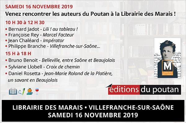 Samedi 16 novembre, le Poutan à la Librairie des Marais !