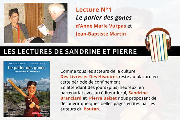 Les lectures de Sandrine et Pierre – Le parler des gones