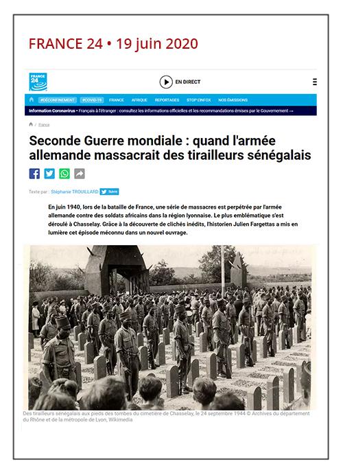 Juin 1940, quand l'armée allemande massacrait des tirailleurs sénégalais - France 24 - 19/06/20