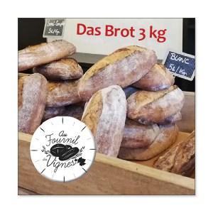 Das Brot 3kg à la coupe - Au fournil du Cuvier