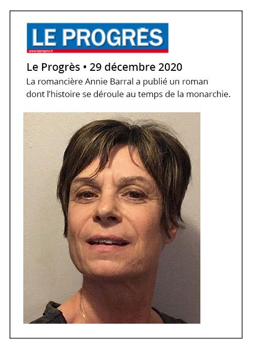 Annie Barral fait revivre la venue de Louis XIV dans le val de Saône - Le Progrès 29/12/2020