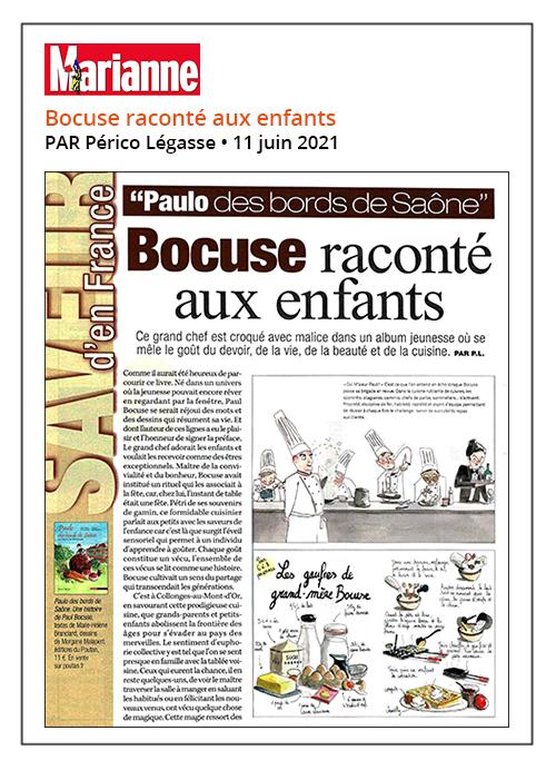 Bocuse raconté aux enfants - Marianne 11/06/2021