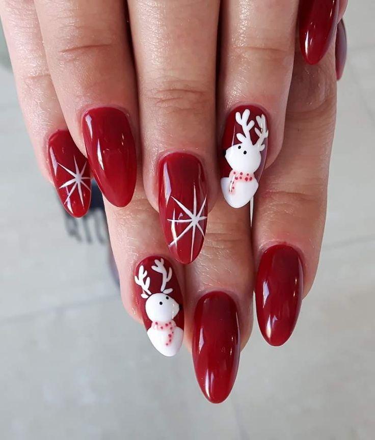 Top 7 Christmas Winter Nail Design Ideas 2018-2019