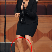 Christina's Leg is Diiiiiirty....