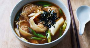Корейский суп с пельменями