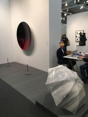 "Anish Kapoor, ""Mirror (Black to Red Brandy Wine)""; Ai Weiwei, ""Shelter"""