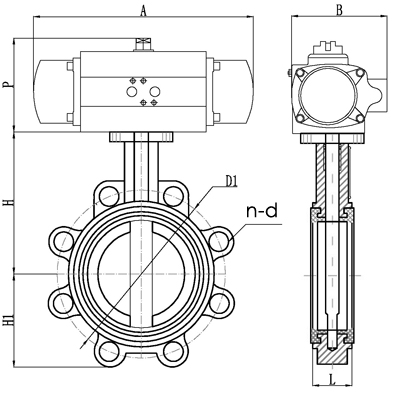 Pneumatic lug butterfly valve-Small MOQ24hours Online service