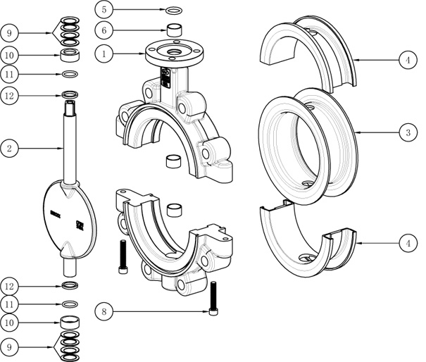 Lined Lug butterfly valve-Free OEM Production