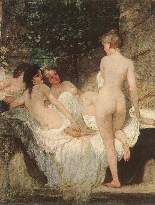 Károly_Lotz_(1833-1904)_After_the_Bath_1880