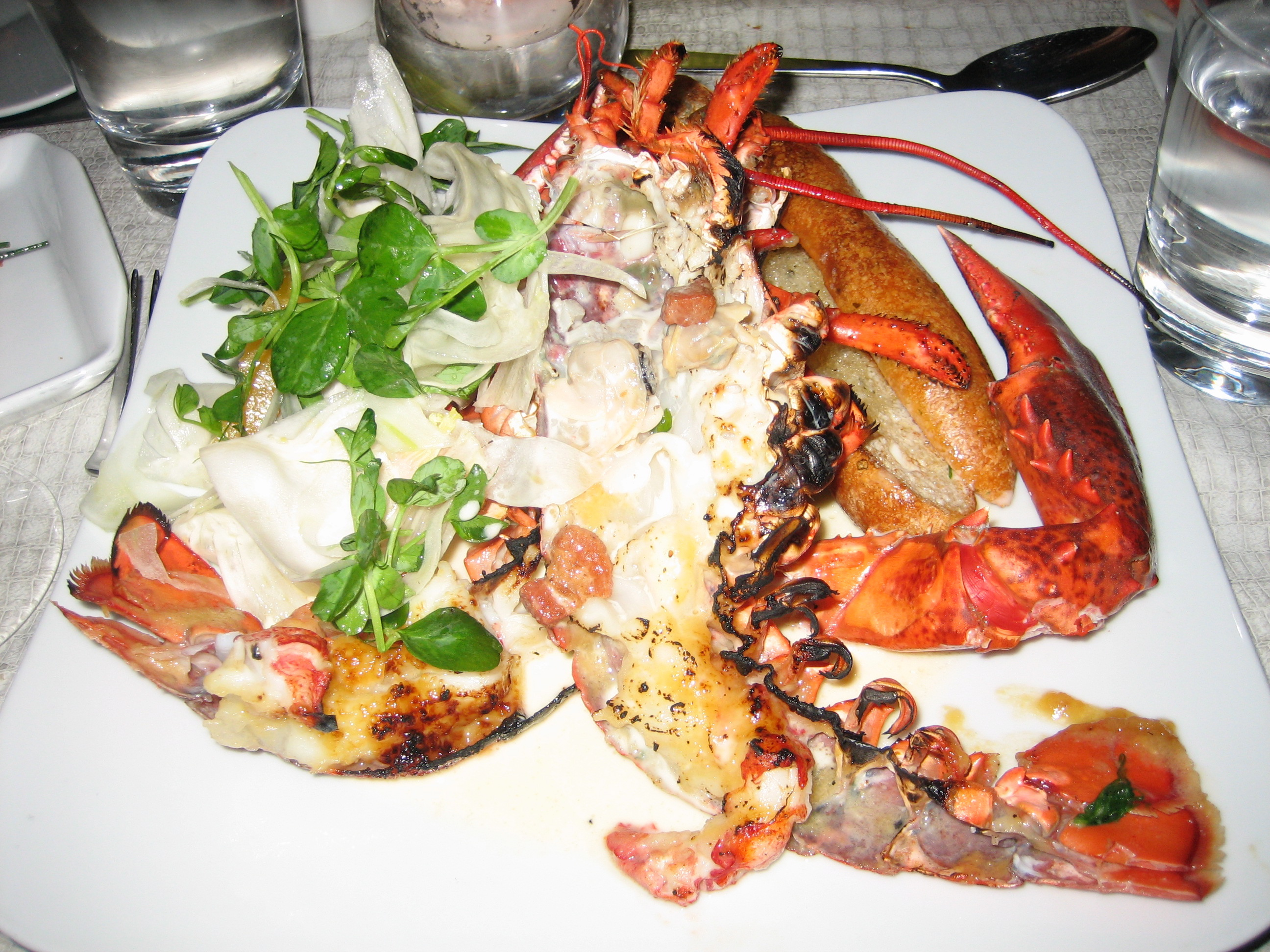 Lobster (which I split with L's filet mignon for surf and turf)