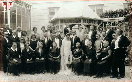 Vjenčanje - Otto Frank i Edith Hollander