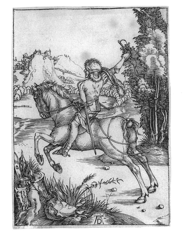 Albrecht Dürer: Galoppierender Reiter (Der kleine Kurier)