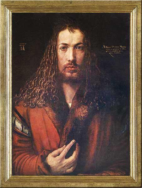 Albrecht Dürer (1471-1528), slavni njemački renesansni slikar, auto-portret