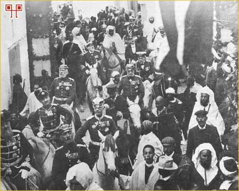 Ulazak cara Wilhelma II i njemačke delegacije u Tanger