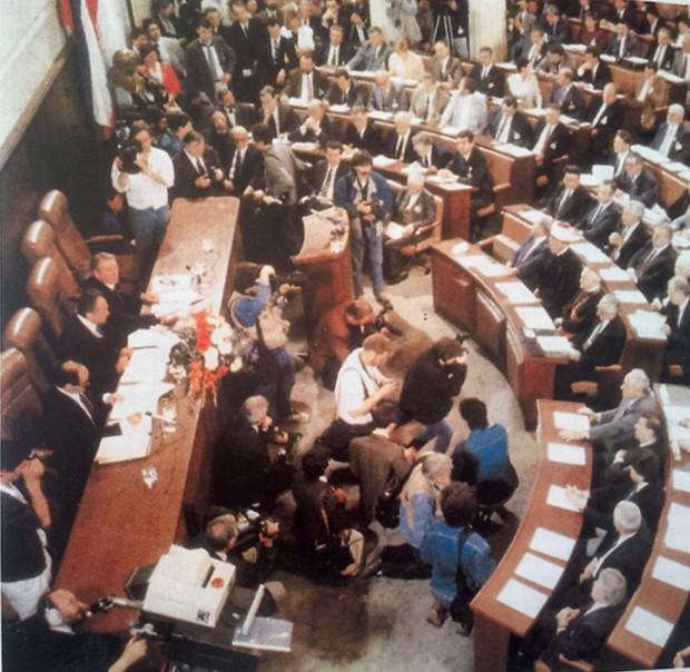 Prilog 12 – Konstituiranje višestranačkog sabora, 30. svibnja 1990. godine, preuzeto iz: Radelić, Zdenko, Hrvatska u Jugoslaviji 1945.-1991. (od zajedništva do razlaza), Školska knjiga, Zagreb 2006.