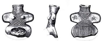 Ženska odjeća rekonstruirana je prema keramičkim idolima
