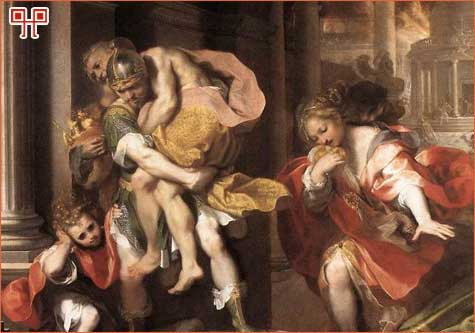 Federico Barocci: Eneja bježi iz Troje