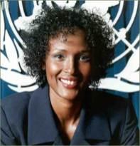 Waris Dirie - poznata somalijska manekenka se kao žrtva FGM-a angažirala u borbi protiv sakaćenja u sklopu UN-a