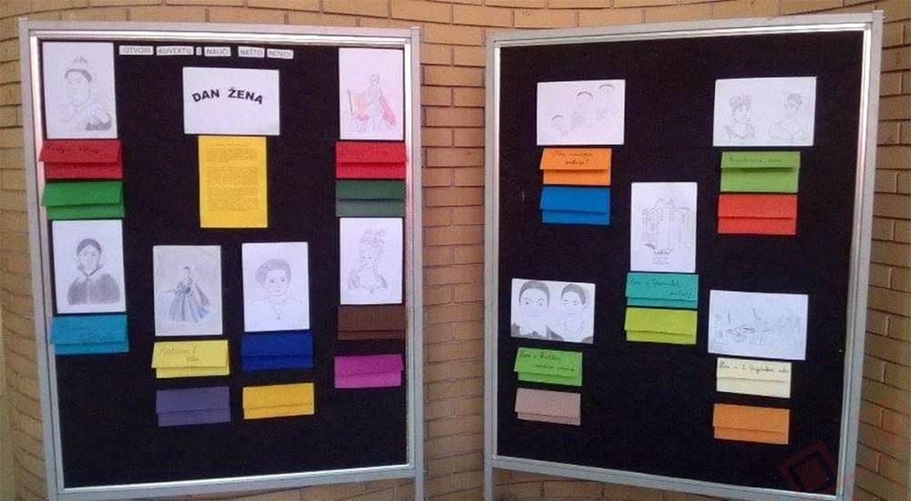 Ploče s radovima učenika