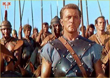 U poznatoj filmskoj ekranizaciji Spartaka je utjelovio Kirk Douglas