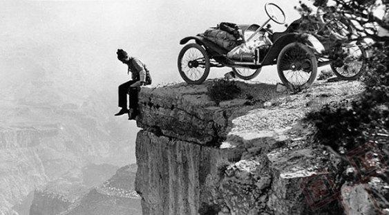 Parkiralište na rubu Velikog kanjona (1914.)