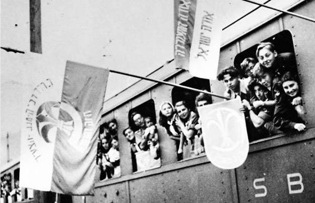 Kastnerov vlak stiže u Švicarsku, 1944.