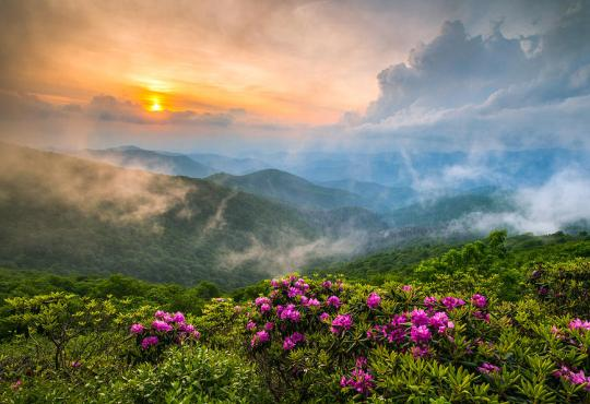 North Carolina Blue Ridge Parkway Spring Appalachian Mountains, photo by Dave Allen