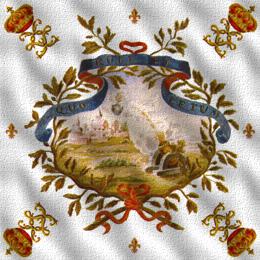 Zastava 1. satnije mušketira iz 1715.