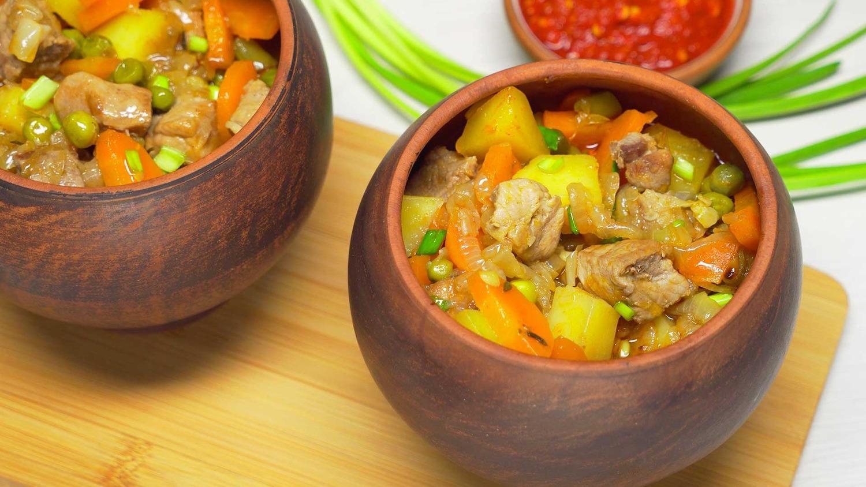 Жаркое из свинины в горшочке (3847) | Povkusu.com