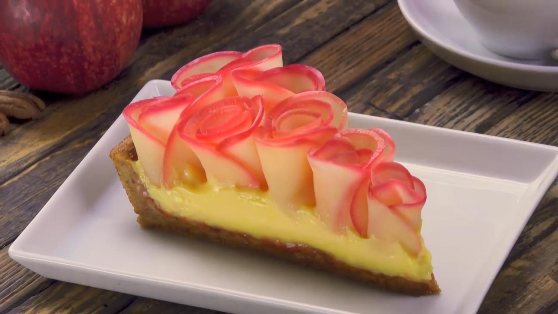 Пирог с розами из яблок (5021) | Povkusu.com