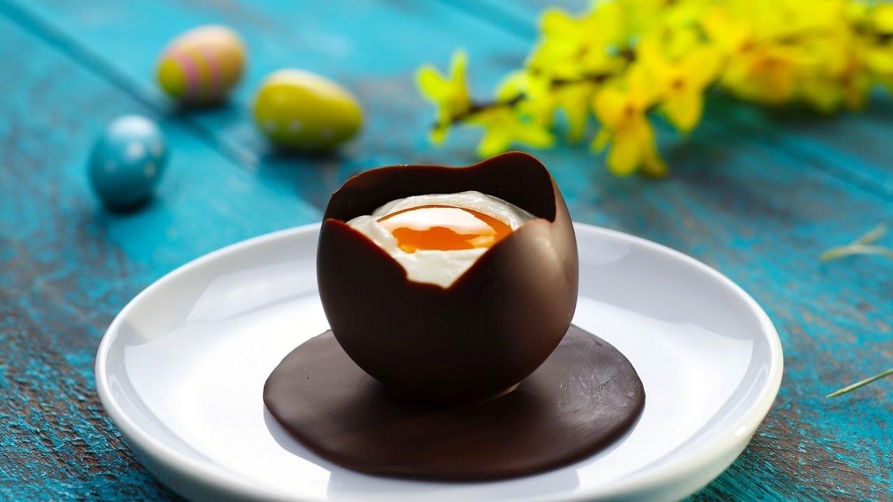 Сливочный мусс в шоколадном яйце (4980) | Povkusu.com