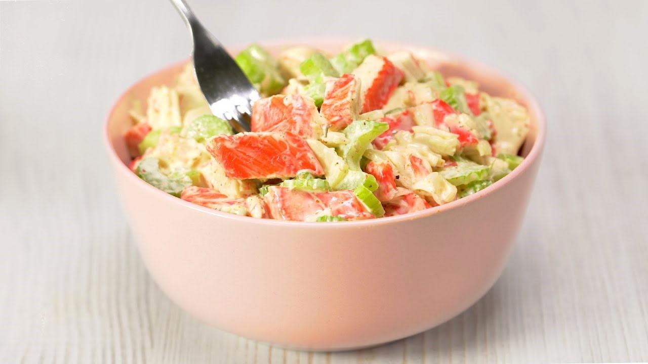 Крабовый салат за 10 минут (5746) | Povkusu.com