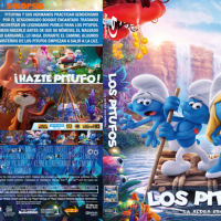 Los Pitufos La aldea escondida (2017) Blu-ray Cover+Label, R4 by Powafulimpak