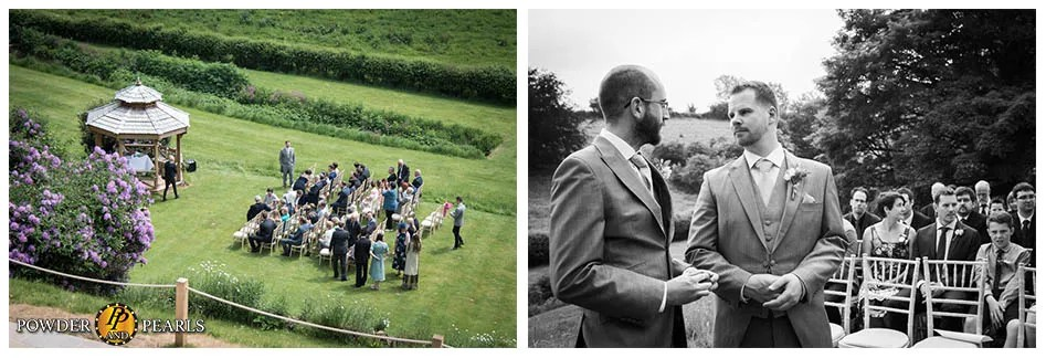 Paschoe house wedding ceremony outside