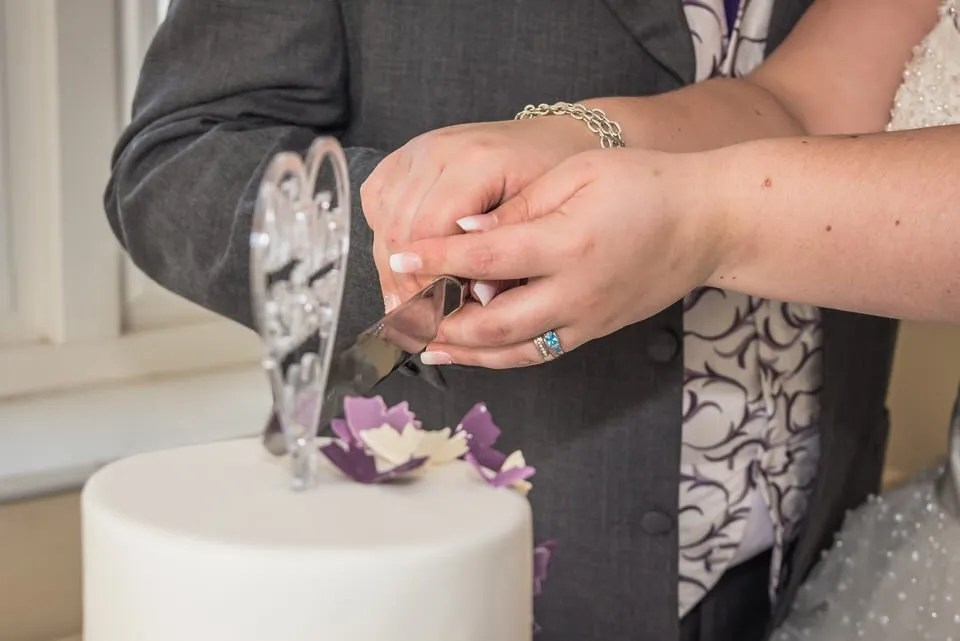 Cutting the cake at Cadbury House in Bristol