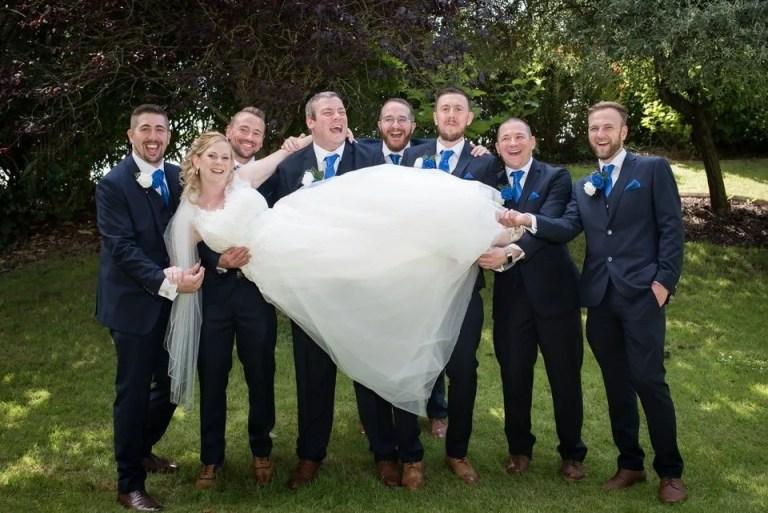 Bide picked up by groom at Cumberwell Park wedding venue