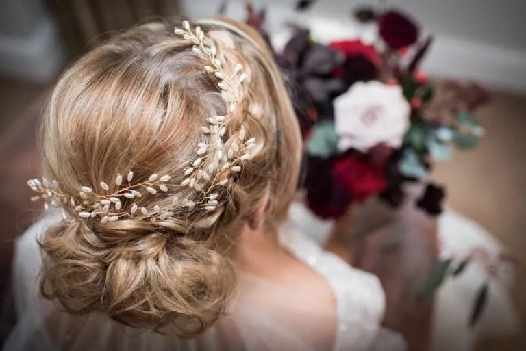 Bridal hair at Cumberwell Park