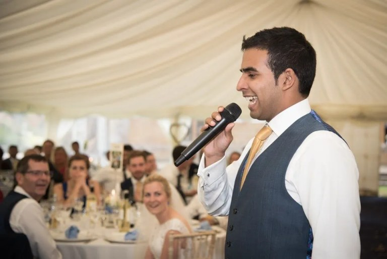 Wedding speeches at Dillington House in Somerset
