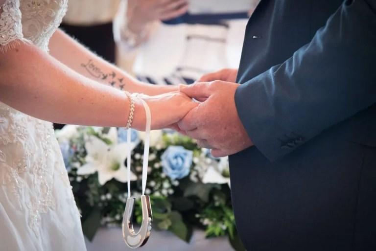 Eastwood Park wedding hands
