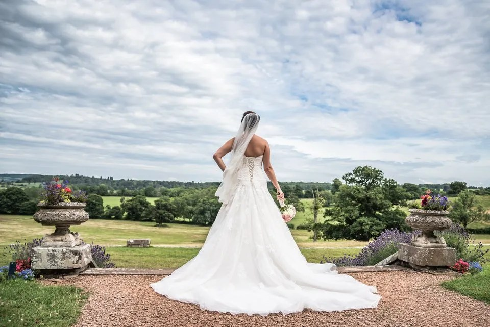 Bride on her Wedding Day at Eastwood Park in South Gloucestershire