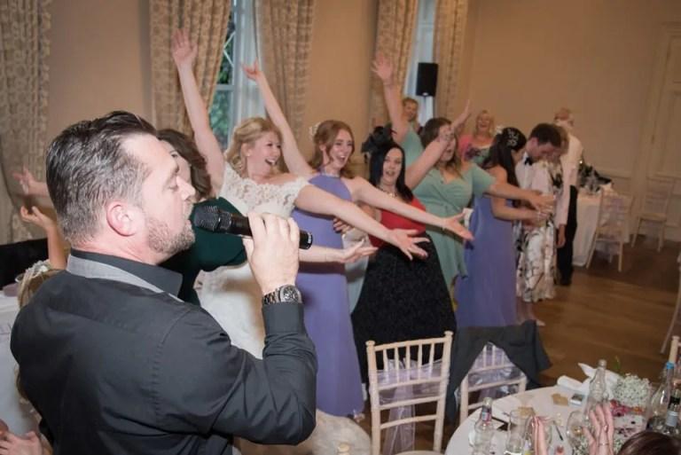 Eastwood Park wedding singing waiters