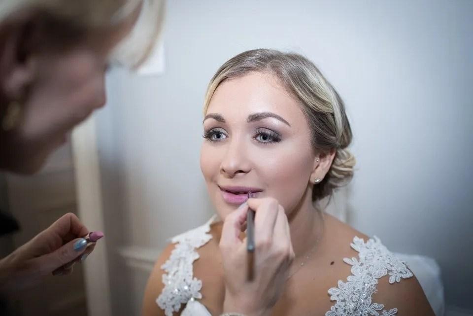 Bridal make up at the Grange Mecure Hotel in Bristol