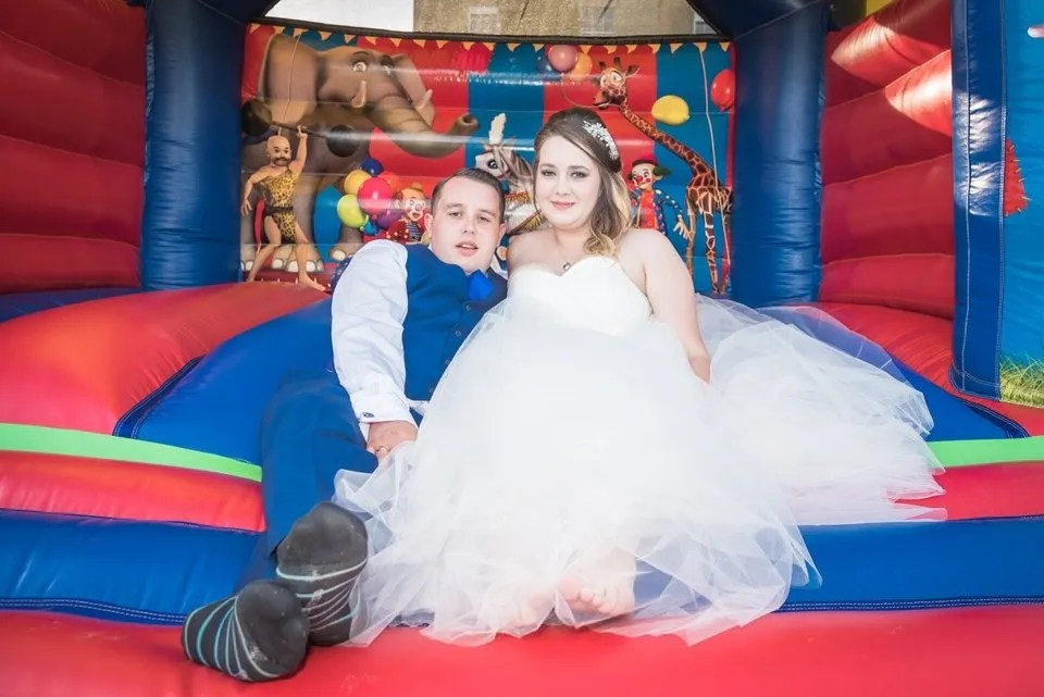 Wedding bouncy castle at the Grange Mecure Hotel in Bristol