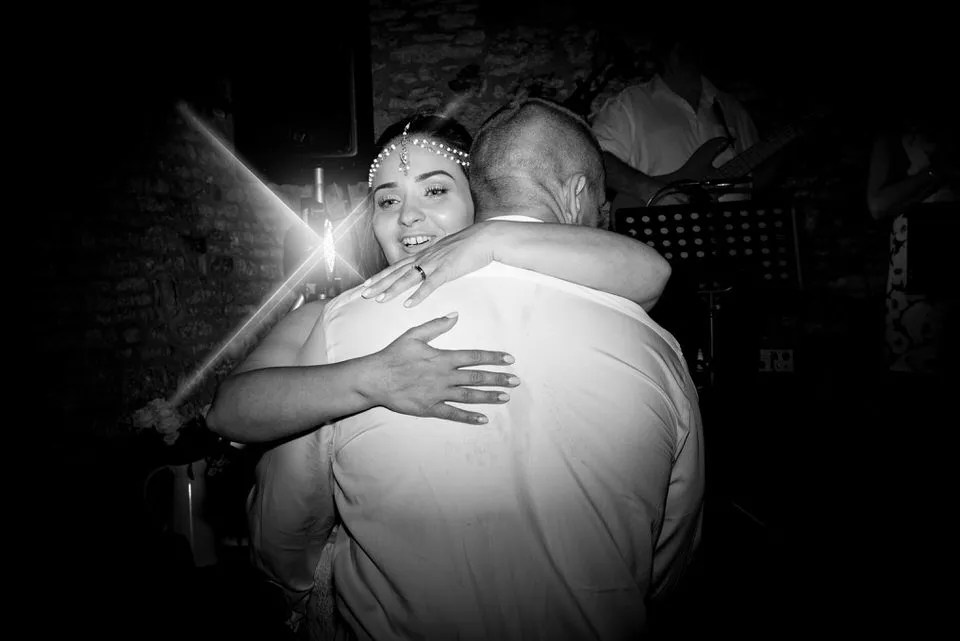 Wedding first dance at Mells Tithe Barn in Somerset