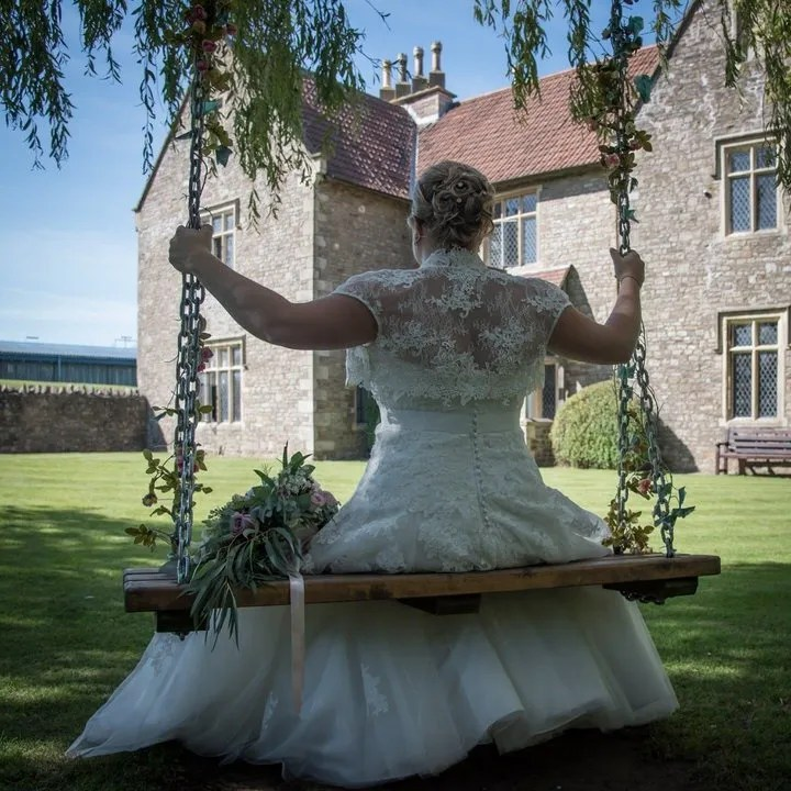 Bride at Thornbury Golf Club Wedding in South Gloucestershire