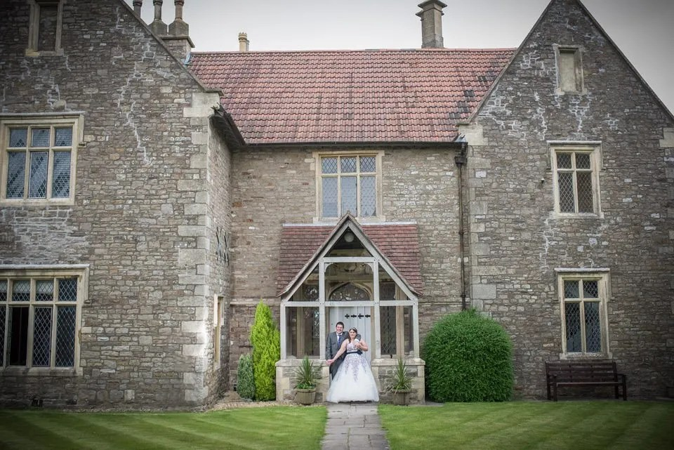 Bride and Groom on their wedding day at Thornbury Golf Club in South Gloucestershire