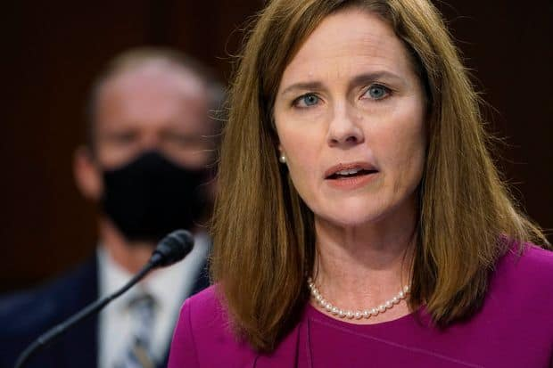 The live hearings of Amy Coney Barret going on in the full swing