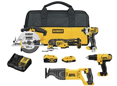 DEWALT 20V MAX Cordless Drill Combo Kit, 5-Tool (DCK551D1M1)