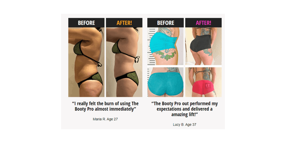 The Booty Pro Results