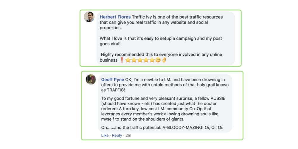 Traffic Ivy Reviews - Customer feedback